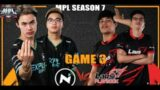RENEJAY TO THE RESCUE!! | NXP vs LPE GAME 3 | MPL PH S7 Week 4 Day 3